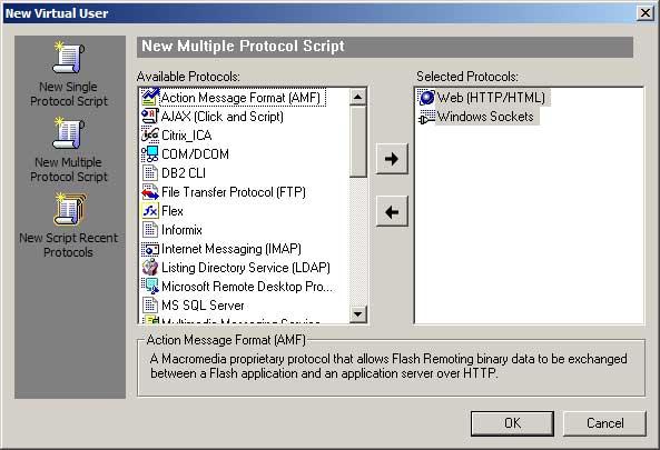 VuGen Multiple Protocol Web (HTTP/HTML) + Windows Sockets script